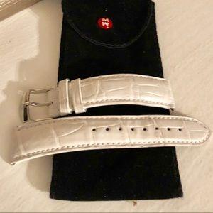 Michele stark white crocodile watch band 18mm